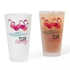 Team Flamingo Drinking Glass