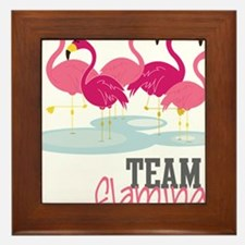 Team Flamingo Framed Tile