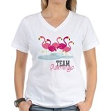 Flamingo Womens V-Neck T-shirts
