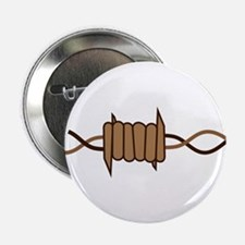 """Barbed Wire 2.25"""" Button"""