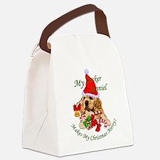 Cocker Spaniel Christmas Canvas Lunch Bag