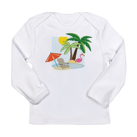 Summer Beach Long Sleeve Infant T-Shirt