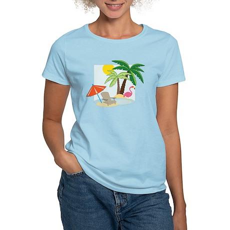 Summer Beach Women's Light T-Shirt