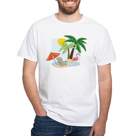 Summer Beach White T-Shirt