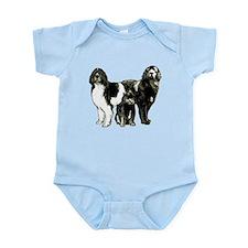 Newfoundland dog family Infant Bodysuit