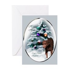 Curly Coated Retriever Greeting Card