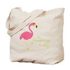 The Flamingo Lady Tote Bag