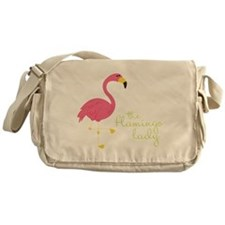 The Flamingo Lady Messenger Bag