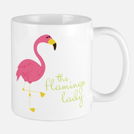 The Flamingo Lady Mug