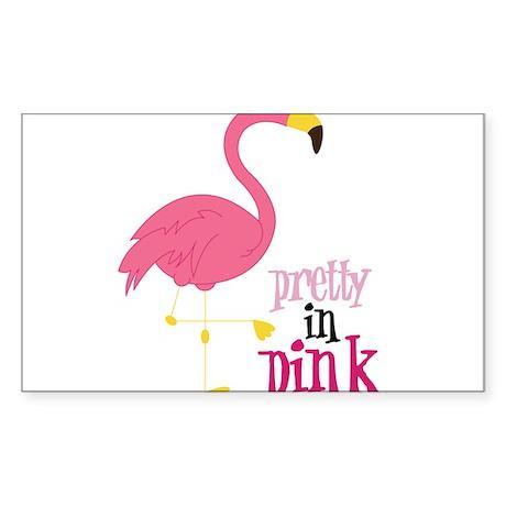Pretty In Pink Sticker (Rectangle)
