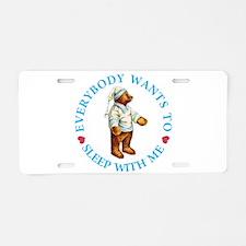 Sleepy Time Bear Aluminum License Plate