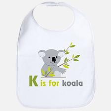 K Is For Koala Bib