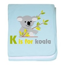 K Is For Koala baby blanket