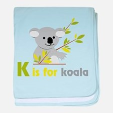 K Is For Koala baby blanket