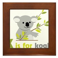 K Is For Koala Framed Tile