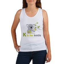 K Is For Koala Women's Tank Top
