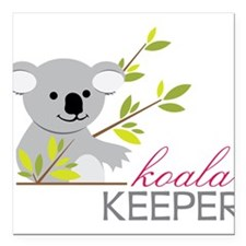 "Koala Keeper Square Car Magnet 3"" x 3"""