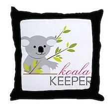 Koala Keeper Throw Pillow