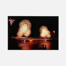 Fireworks - GG Bridge Rectangle Magnet