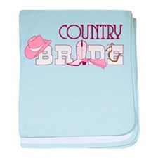 Country Bride baby blanket
