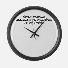 Cute Stop playing Large Wall Clock