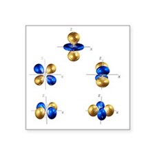 3d electron orbitals - Square Sticker 3