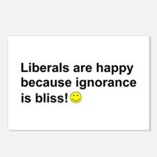 Liberals are happy.png Postcards (Package of 8)