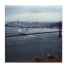 USS Nimitz - Golden Gate Bridge Tile Coaster