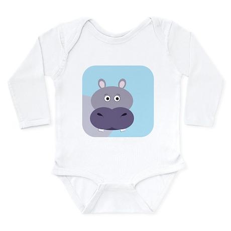 Hippopotamus Long Sleeve Infant Bodysuit