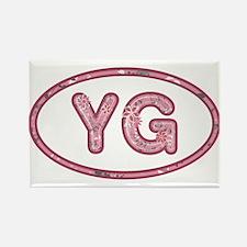 YG Pink Rectangle Magnet