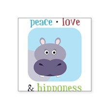 "Hipponess Square Sticker 3"" x 3"""