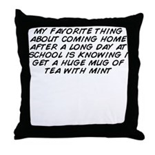 Funny My favorite things Throw Pillow