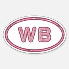 WB Pink Sticker (Oval)