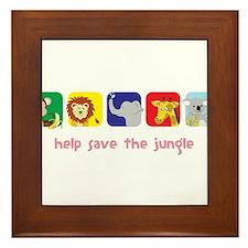 Save The Jungle Framed Tile