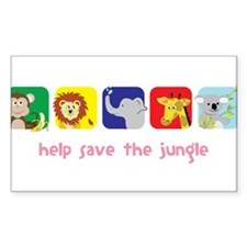 Save The Jungle Decal