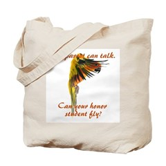 Sun Conure my parrot can fly Steve Duncan Tote Bag
