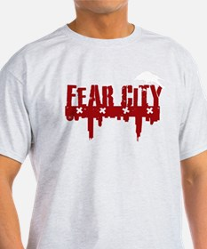 RED Fear City Logo with WHITE BIRD T-Shirt
