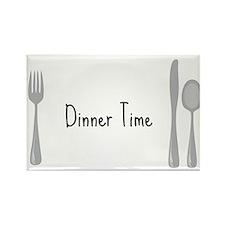 Dinner Time Rectangle Magnet