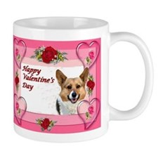 Valentine OC Hearts and Roses Card Mug