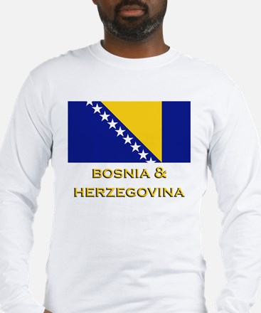 Bosnia & Herzegovina Flag Merchandise Long Sleeve