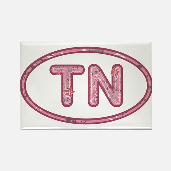 TN Pink Rectangle Magnet