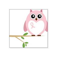"""Awareness Owl Square Sticker 3"""" x 3"""""""