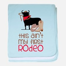 My First Rodeo baby blanket