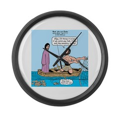 Fishing with Jesus Large Wall Clock