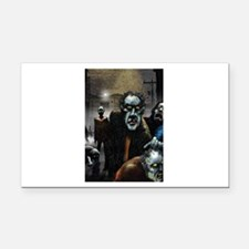 Zombie Party Rectangle Car Magnet