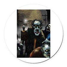 Zombie Party Round Car Magnet