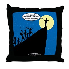 Mission from God Throw Pillow