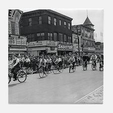 Coney Island Bicyclist 1826632 Tile Coaster