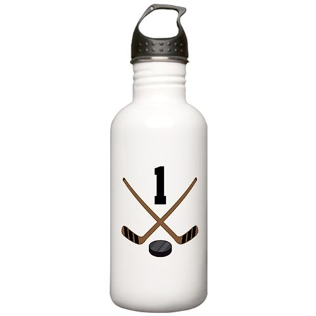 Hockey Player Number 1 Stainless Water Bottle 1.0L