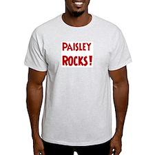 Paisley Rocks Ash Grey T-Shirt